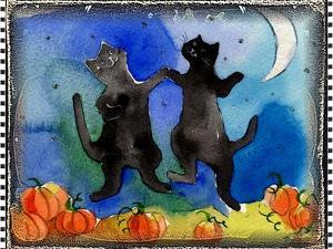 Dancing Black Cats Halloween by sylvia pimental