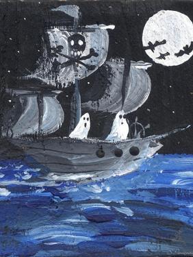 Ghost Ship Skull & Cross Bones Halloween by sylvia pimental