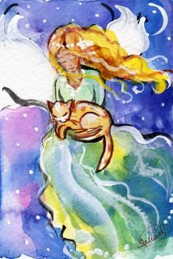 Guardian Angel with Cat by sylvia pimental