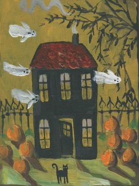 Haunted House Ghosts Halloween by sylvia pimental