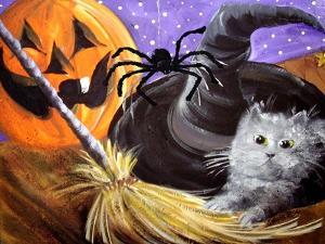 Little Gray Halloween Kitten by sylvia pimental