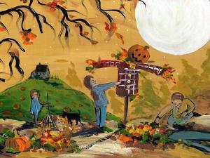 Making A Scarecrow Autumn Season by sylvia pimental