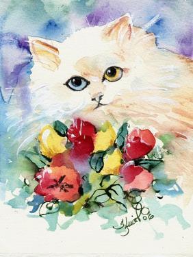 Odd Eye White Persian Cat by sylvia pimental