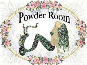 Powder Room Lovely Mermaid by sylvia pimental