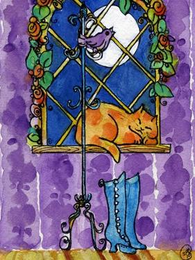 Purple Night Kitty Cat by sylvia pimental