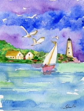 Sailboat Near the Shore by sylvia pimental