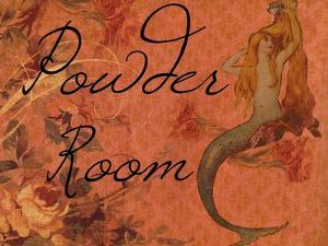 Scarlet Vintage Mermaid Powder Room by sylvia pimental