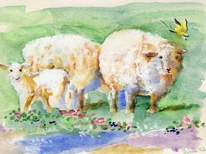 Sheep Family on the Farm by sylvia pimental