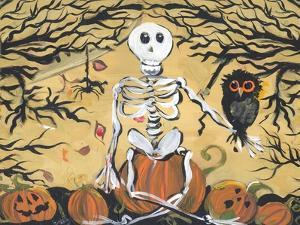 Skeleton Holding Baby Owl by sylvia pimental