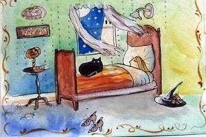 Sleeping Witch Halloween Night by sylvia pimental