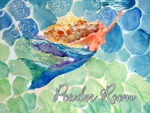 Swimming Mermaid Powder Room by sylvia pimental