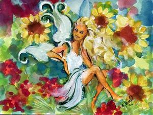 Yellow Haired Sunflower Fairy by sylvia pimental