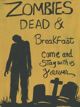Zombies Dead & Breakfast Halloween by sylvia pimental