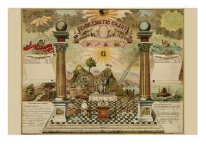 Symbols - Emblematic Chart and Masonic History of Free and Accepted Masons