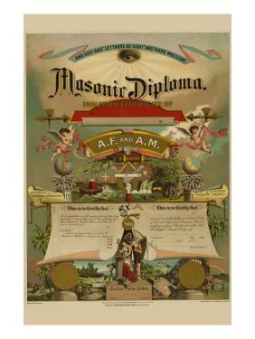 Symbols - Masonic Diploma