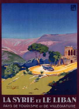 Syria and Lebanon Holiday Poster