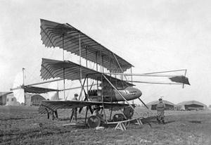 Dreidecker-Flugzeug von Louis Paulhan, 1911 by SZ Photo