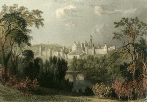 Ainwick Castle by T. Allom