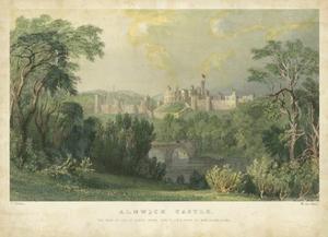 Alnwick Castle by T. Allom