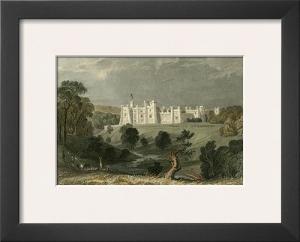 Brancepeth Castle, Durham by T. Allom