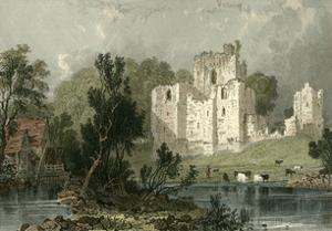 Brougham Castle, Westmoreland by T. Allom