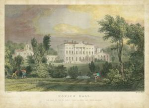 Howick Hall by T. Allom
