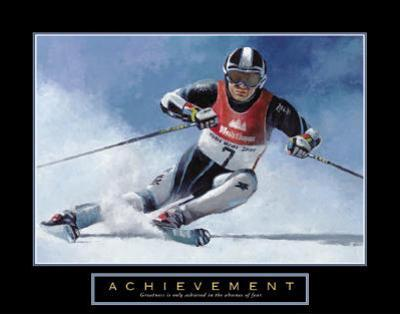 Acheivement Ski Race Skiing Motivational by T. C. Chiu