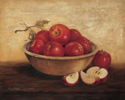Apples In Wood Bowl by T. C. Chiu