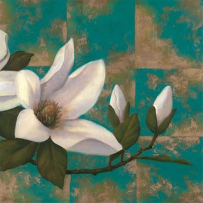 Aqua Floral II by T. C. Chiu