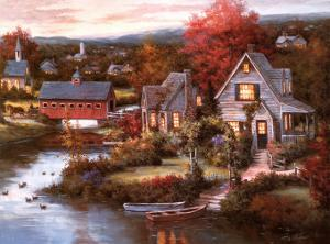 Cozy Country Night by T. C. Chiu