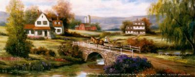 Farm with Stone Bridge by T. C. Chiu
