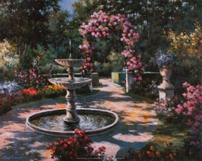 Garden Fountain by T. C. Chiu