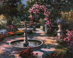 Garden Fountain by T. C. Chiu