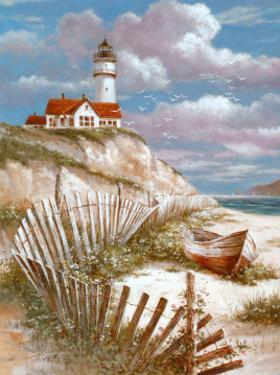 Lighthouse with Deserted Canoe by T. C. Chiu