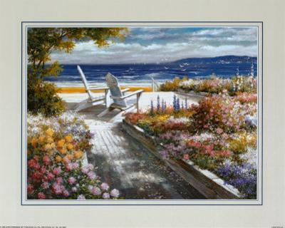Path with Beach Chairs by T. C. Chiu