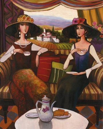 Tea Time, Center Panel by T. C. Chiu