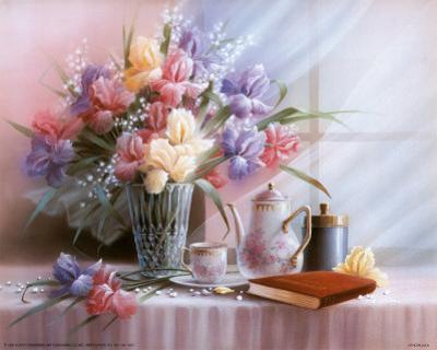 Teapot and Iris by T. C. Chiu