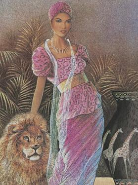 Woman with Lion by T. C. Chiu