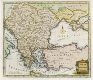 Map Showing Turkey in Europe and Its Neighbouring European States of the Balkans by T. Conder