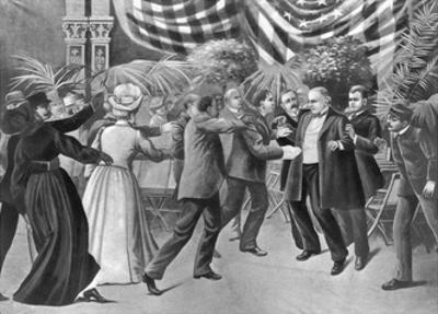 Assassination of President Mckinley (Wash Drawing)