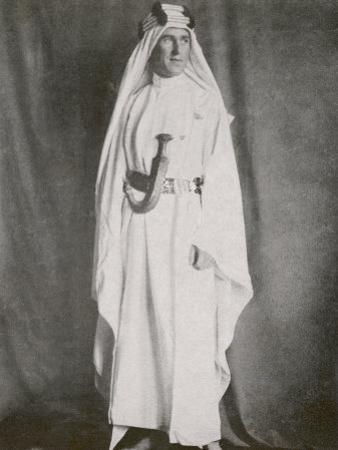 T E Lawrence (Lawrence of Arabia) Full-Length Photograph in Arab Dress