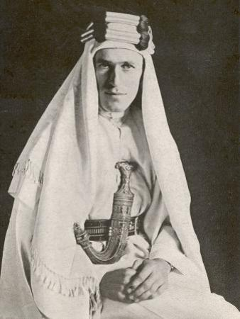 T E Lawrence (Lawrence of Arabia) in Desert Robes