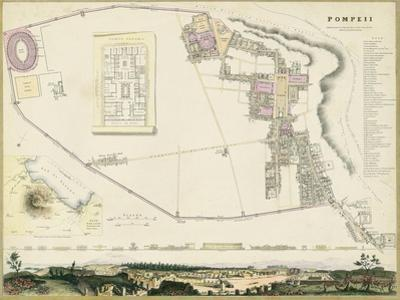 Map of Pompeii by T.E. Nicholson