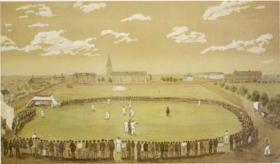 The Old Days of Merry Cricket Club Matches' at the Hyde Park Ground Sydney Australia by T.h. Lewis
