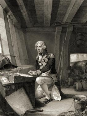 Lord Nelson at Prayer, 1805 by T.J. Barker