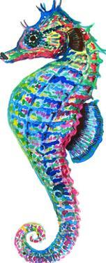 Colorful Seahorse Facing Left by T.J. Heiser