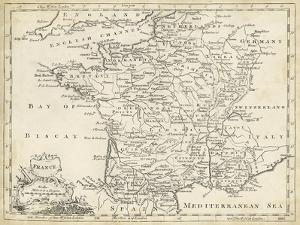 Map of France by T. Jeffreys
