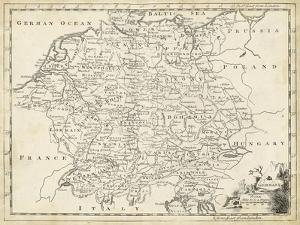 Map of Germany by T. Jeffreys