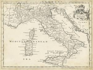Map of Italy by T. Jeffreys