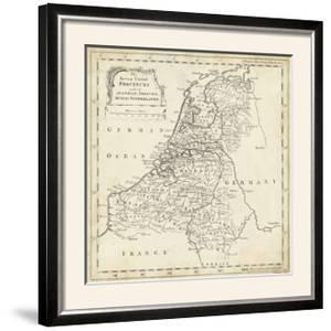 Map of Netherlands by T. Jeffreys